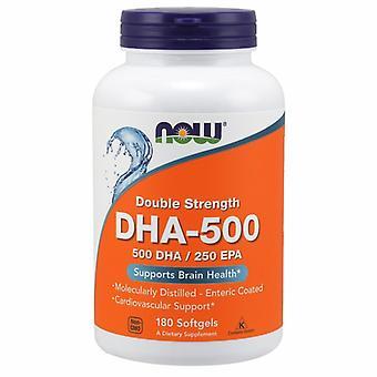 Nyt Elintarvikkeet DHA-500 Double Strength, 180 Softgels