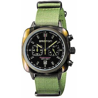 Briston Clubmaster Sport Acetate Chronograph Watch - Jungle Green/Black
