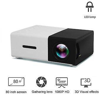 Led Mini Projektori, Tukee 1080p/hdmi/usb Audio/video Beamer, Home