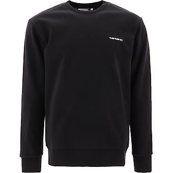 Carhartt I027678899003 Men's Black Cotton Sweatshirt