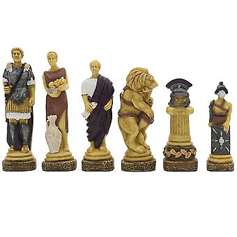 The Spartacus Hand Painted Chess Pieces by Italfama