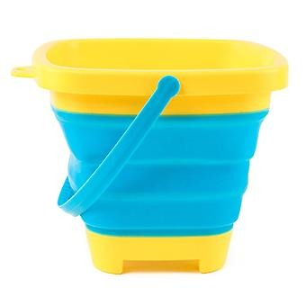 Portable Silicone Foldable Sand Bucket Beach Water Play Toy For Outdoor Camping
