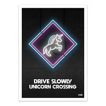 Art-Poster - Unicorn crossing - Rubiant