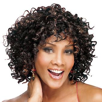 Negro African Short Curled Hair Wig Cap