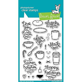 Lawn Fawn Clear Stamps - Love You A Latte