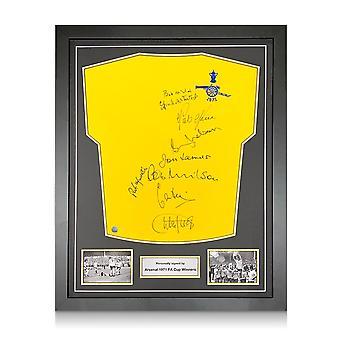 Arsenal 1971 FA Cup Winners Multi Signed Shirt. Standard Frame