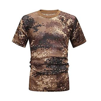 Quick Dry And Breathable  Army Print Mens T-shirt