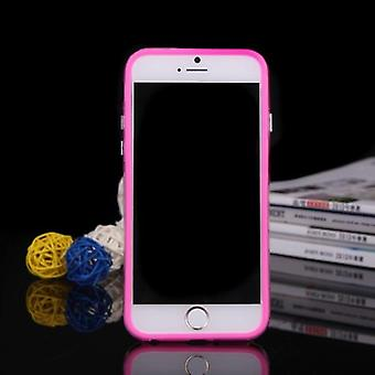 TPU + PC beskyttende støtfanger ramme shell sak for Apple iPhone 6 pluss rose