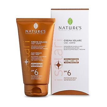 Face and body sun cream SPF6 150 ml of cream