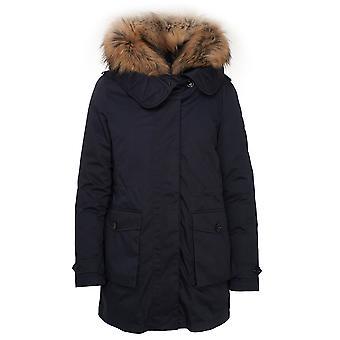 Woolrich Wwou0291frut19743989 Women's Blue Cotton Down Jacket