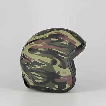 Caberg Freeride Commander Scooter Helmet Matt Green Camo ACU Approved