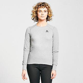 New Odlo Women's Active Warm Eco Long-Sleeve Baselayer Top Grey