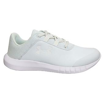 Under Armour UA Mojo Uniform Kids White Lace Up Juniors Trainers 3020698 100
