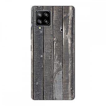 Scafo per Samsung Galaxy A42 5g Silicone Soft 1 Mm, tavole in legno
