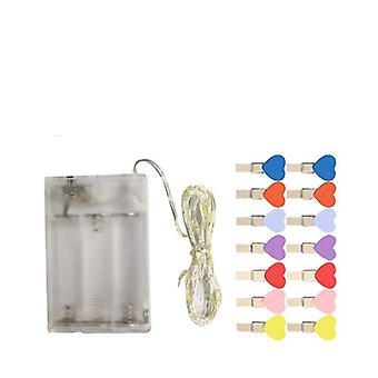 10m Photo Clip Usb Led String Lights per la decorazione della parete della camera da letto