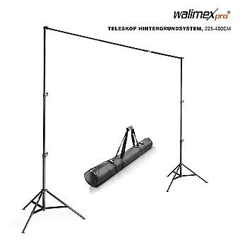 Walimex pro telescopic background system (extendible from approx. 225 to 400 cm with carry bag) 225-