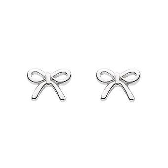 Dew Sterling Silver Dinky Bow Stud Earrings 4842HP022
