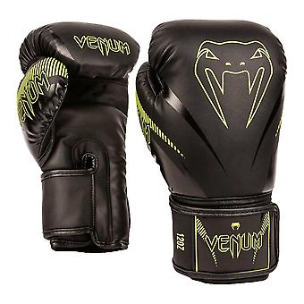 Venum Impact Boxing Gloves Black/Neo Yellow