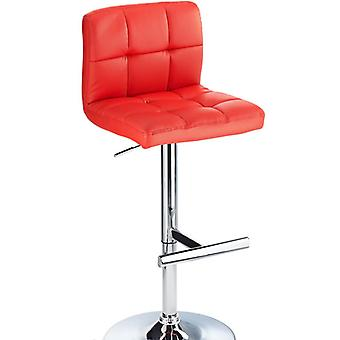 Cuborn Red Bar Stool Faux Leather
