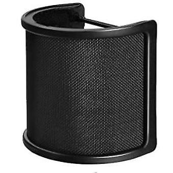 Új stílusú mikrofon szűrő fém háló és hab mikrofon spray (fekete)