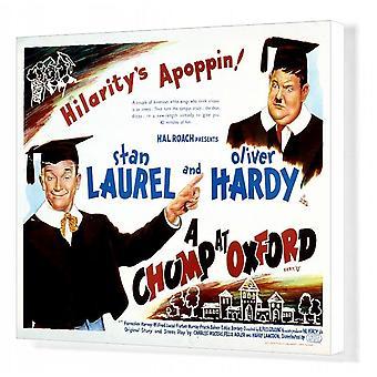 Plakat dla Alfreda Gouldingsa A Chumpa w Oksfordzie (1939). Wydruk kanwy pudełkowej. Hal Roach <br>Stan Laurel.