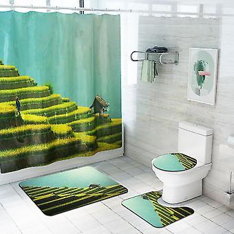 4-częściowy zestaw kurtyn prysznicowych z użytków rolnych