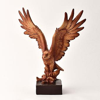 Widdop & Co. Wood Effect Resin Eagle Catching Fish