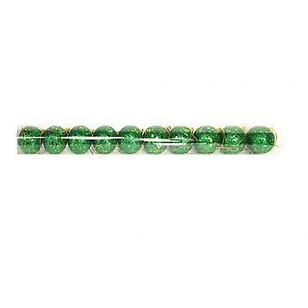 Gisela Graham Set of Sparkly Green Glitter Baubles