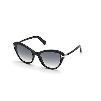 Tom Ford Leigh TF850 01B Shiny Black/Smoke Gradient Sunglasses