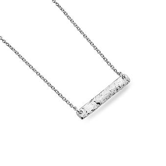 Sterling Silver Necklace Pendant - Origins Textured Bar