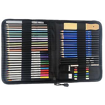51 Stücke Skizze Bleistift wasserlösliche Farbe Bleistift Kunst Malerei Werkzeuge