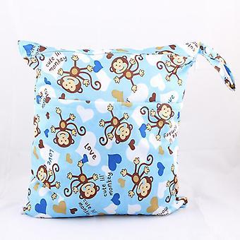 Wet Dry Bag, Zippered Baby Diaper Bag, Waterproof Nappy Bag