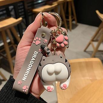 Cat Butt Keychain Cartoon Female Cute Couple Lovers Pair Bag Ornament