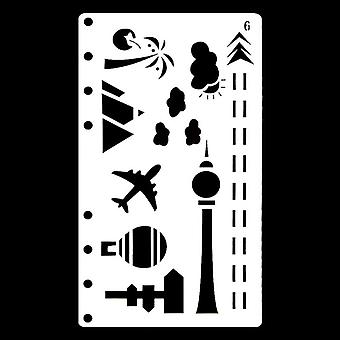 Bullet Journal Stencil Plastic Planner Craft Drawing Template Diary Decor