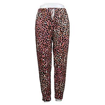 Cuddl Duds Kobiety&s Petite Fleecewear Stretch Jogger Piżama Spodnie Różowy A381826