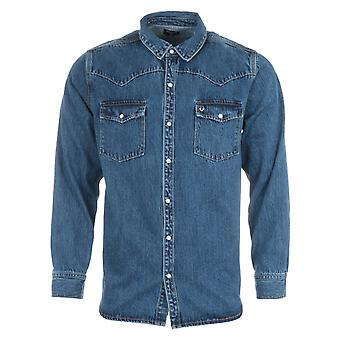 True Religion Denim Western Shirt - Medium Blue Wash