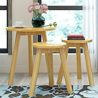 Mobili per la casa Tavolino rotondo in legno massello