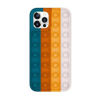 Lewinsky iPhone 12 Pro Pop It Case - Silicone Bubble Toy Case Anti Stress Cover