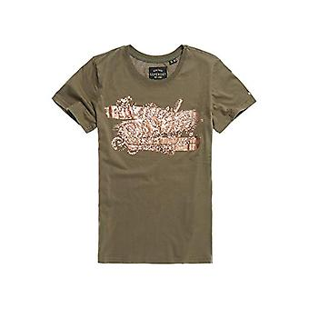 Superdry The Real Foil Sequin Entry Camiseta, Verde (Olive Night GPA), S (Tamaño Productor:10) Mujer