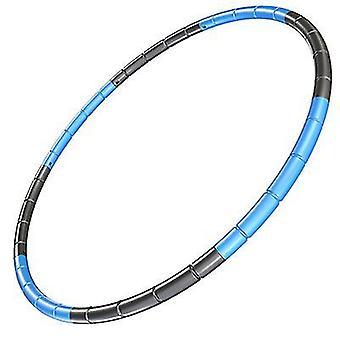 الأزرق الأسود 8 عقدة قابلة للطي هولا هوب 70cm اللياقة البدنية ممارسة الصالة الرياضية تجريب hoola للأطفال az18683