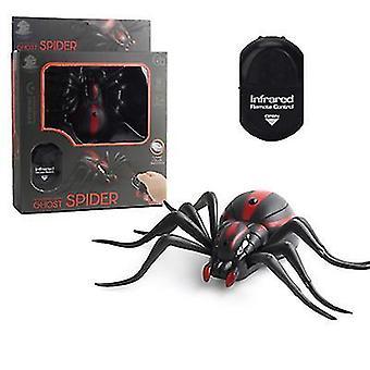 العنكبوت 16 * 9cm الكهربائية الصرصور الأشعة تحت الحمراء محاكاة التحكم عن بعد التعريفي حشرجة العنكبوت لعبة هالوين الطرف الديكور az16057