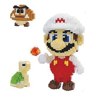 New Super Mario Building Blocks Puzzle Micro 3d Figures Educational Brick Toys ES7490