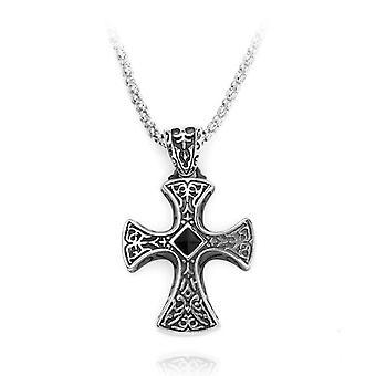 Zirconia kruis ridders tempeliers ketting