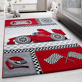 Kinderteppich KID Kinderzimmer Teppich Speedy Rennwagen Formel 1
