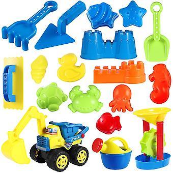 Como mostrado toyvian 18pcs brinquedos de moldagem brinquedos de praia de verão infantil brinquedos de praia com ferramentas de moldes de animais do mar castelo (cor rom) dt2280