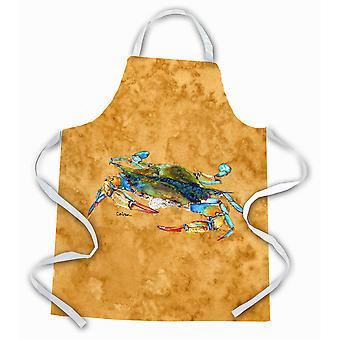 """Caroline's Treasures 8655Apron Blue Crab On Gold Apron, Large, Multicolor"""