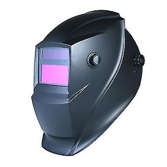 Solar Automatic Darkening Welding Helmet Mask Head-Mounted Argon Arc Welding Protective Cap Flat