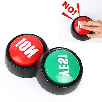 Electronic Talking Yes, No Sound Button Toy, Event Party Supplies, Brain