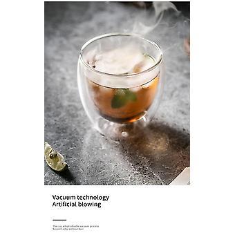 Doppelwand Shot Glas Tasse Set Espresso Kaffee Tassen Whisky Cocktail Bier Glas (weiß)
