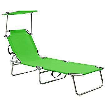 vidaXL taittuva sohva aurinkosuoja vihreä alumiini